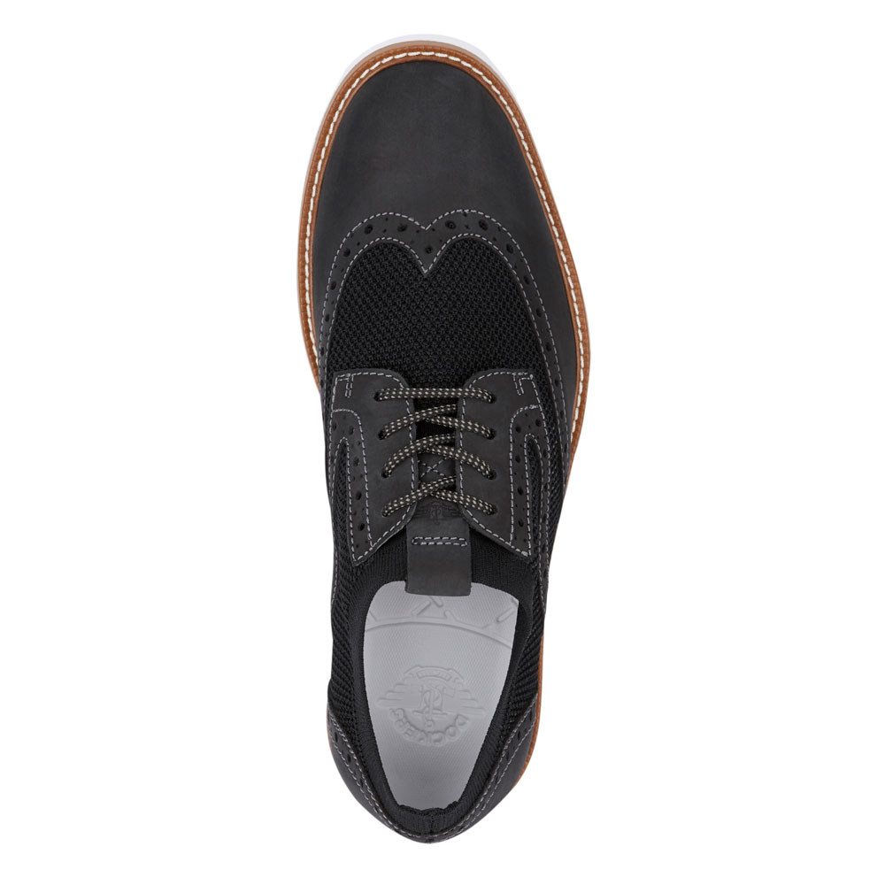 Dockers-Mens-Hawking-Knit-Leather-Dress-Casual-Wingtip-Oxford-Shoe-with-NeverWet thumbnail 8