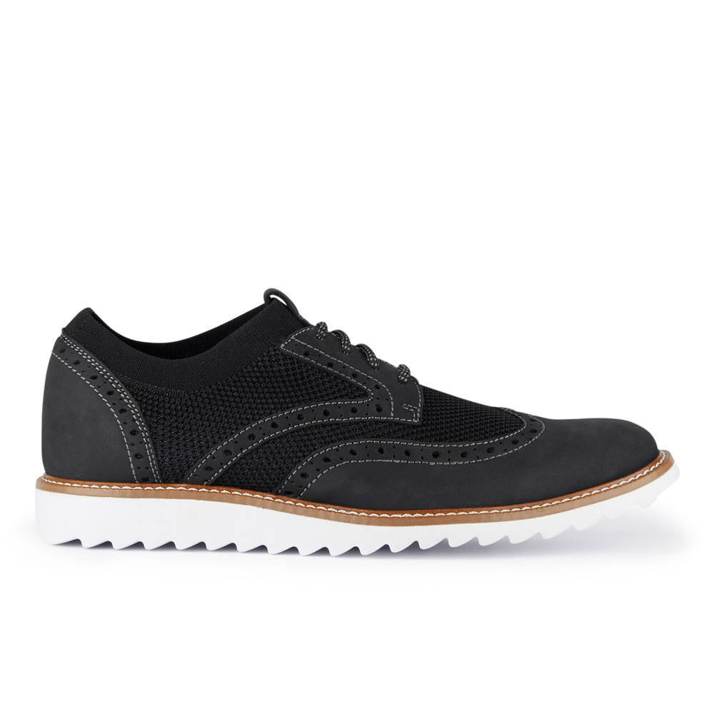 Dockers-Mens-Hawking-Knit-Leather-Dress-Casual-Wingtip-Oxford-Shoe-with-NeverWet thumbnail 12