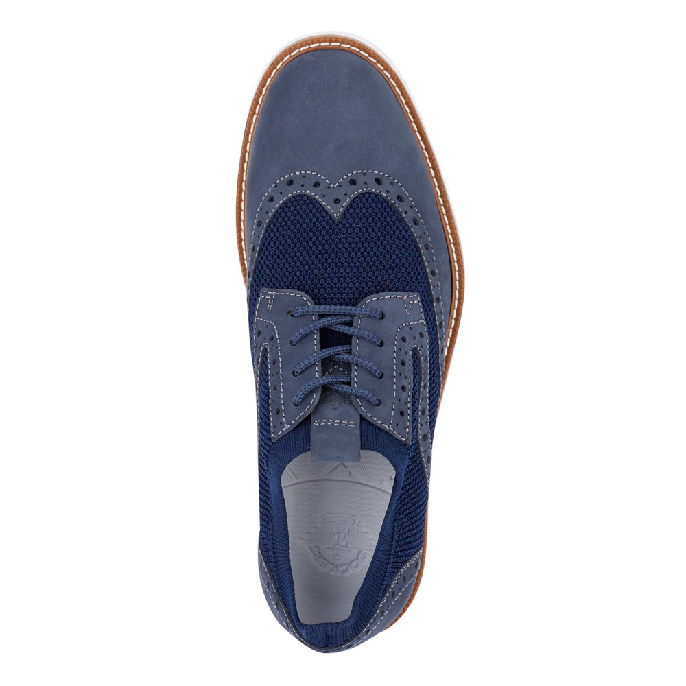 Dockers-Mens-Hawking-Knit-Leather-Dress-Casual-Wingtip-Oxford-Shoe-with-NeverWet thumbnail 20