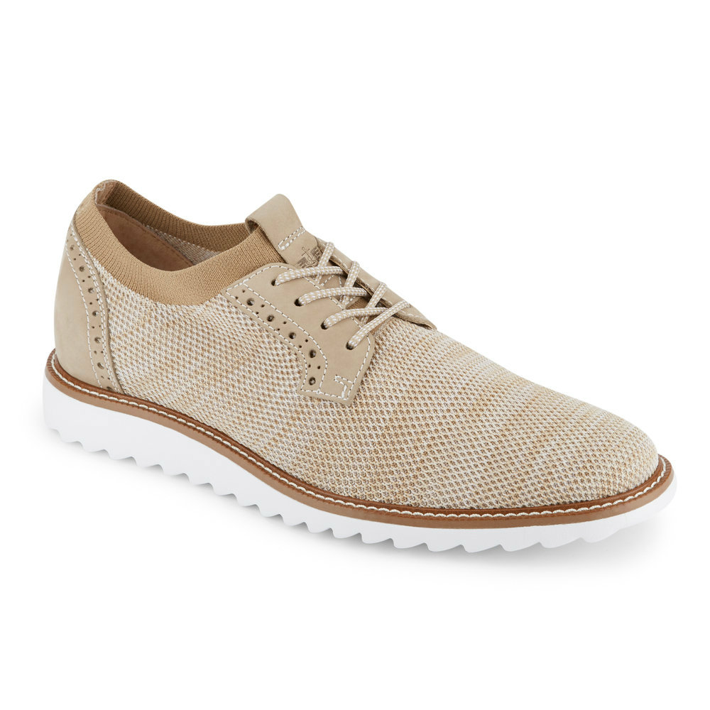 Dockers Mens Einstein Knit/Leather Dress Casual Oxford Shoe
