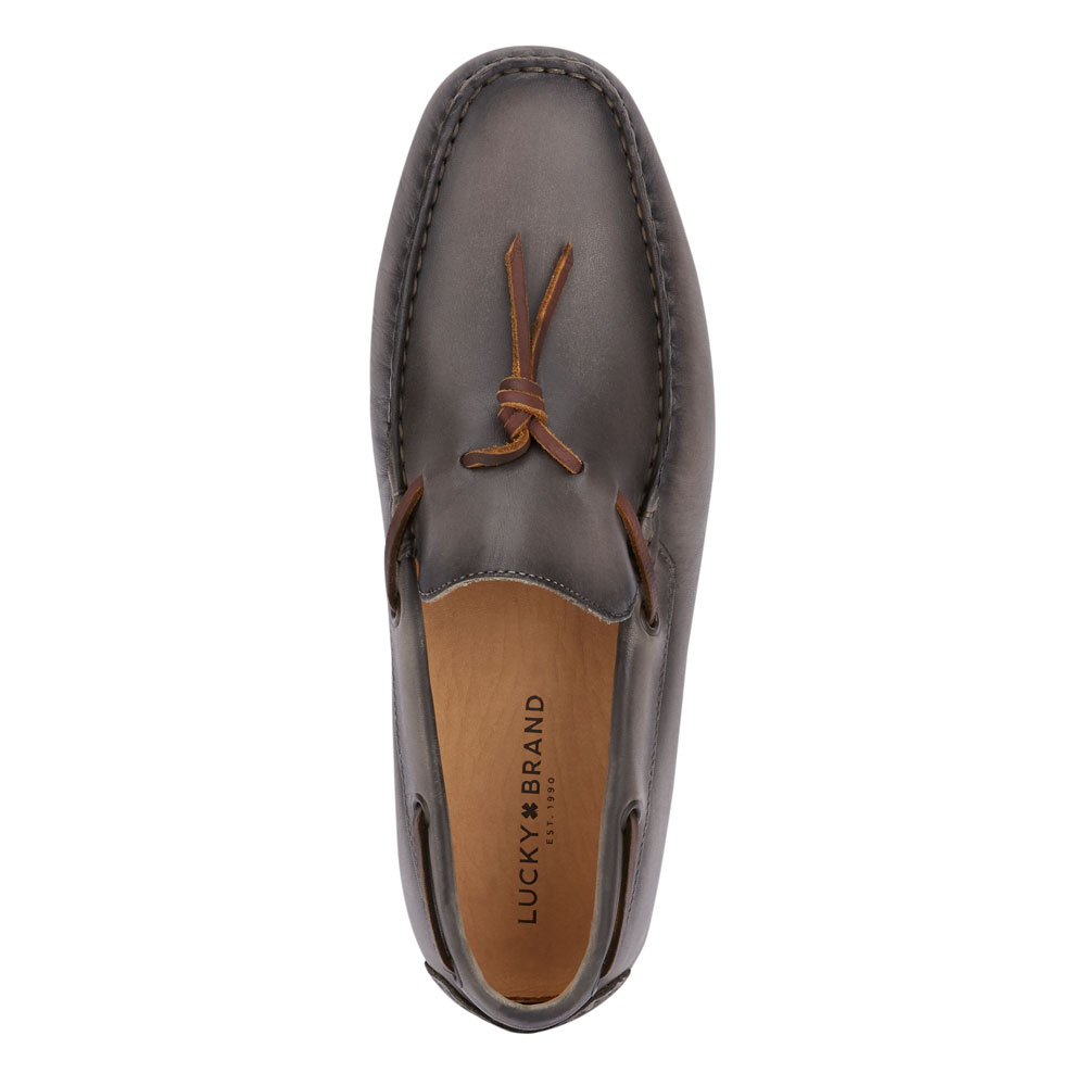 Lucky-Brand-Mens-Wagner-Leather-Sale-Slip-on-Loafer-Rubber-Sole-Driver-Shoe thumbnail 14