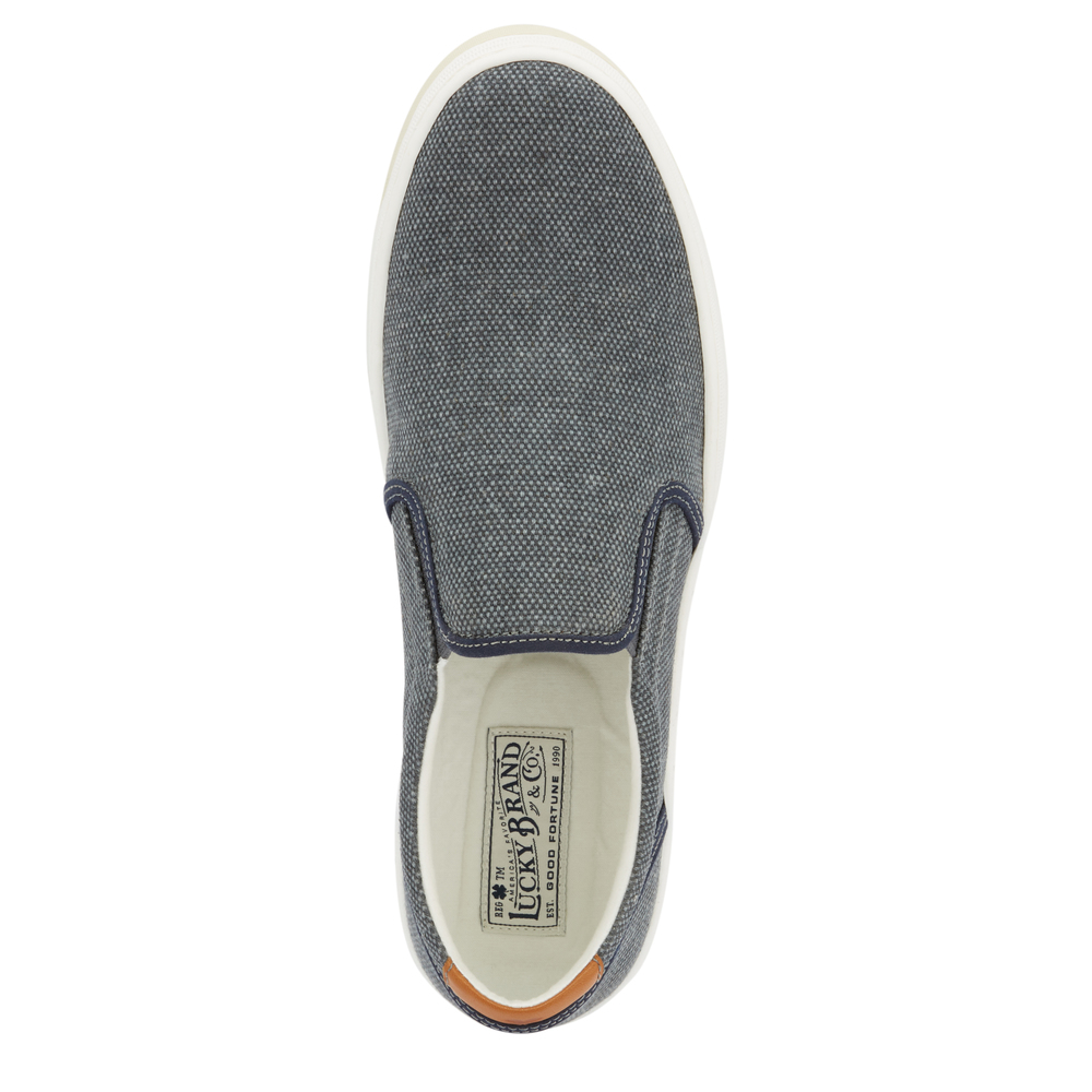 Lucky-Brand-Mens-Styles-Breathable-Textile-Slip-on-Rubber-Outsole-Sneaker-Shoe thumbnail 8