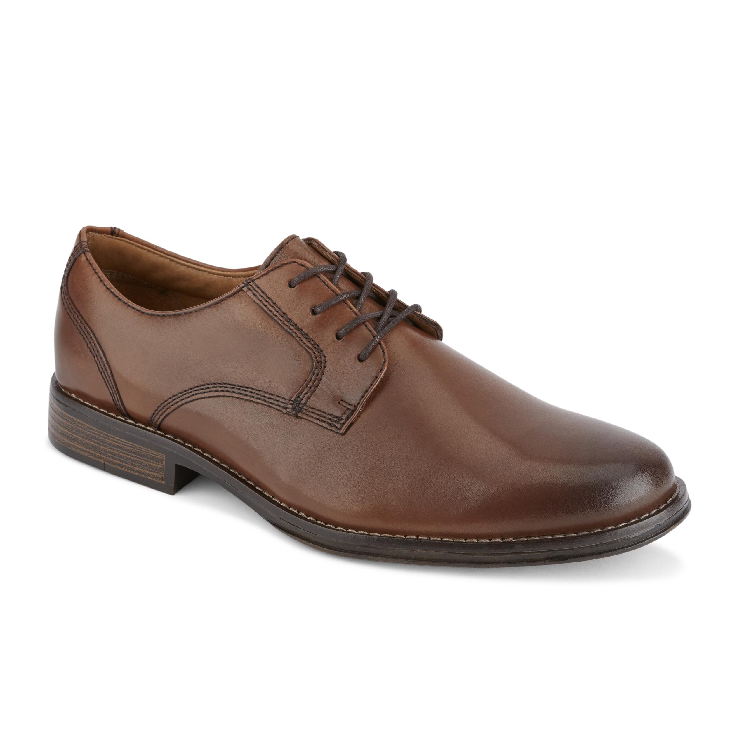 0cb0e3ef9ef Details about G.H. Bass   Co. Mens Hughes Leather Plain Toe Oxford Shoe  Size 8.5