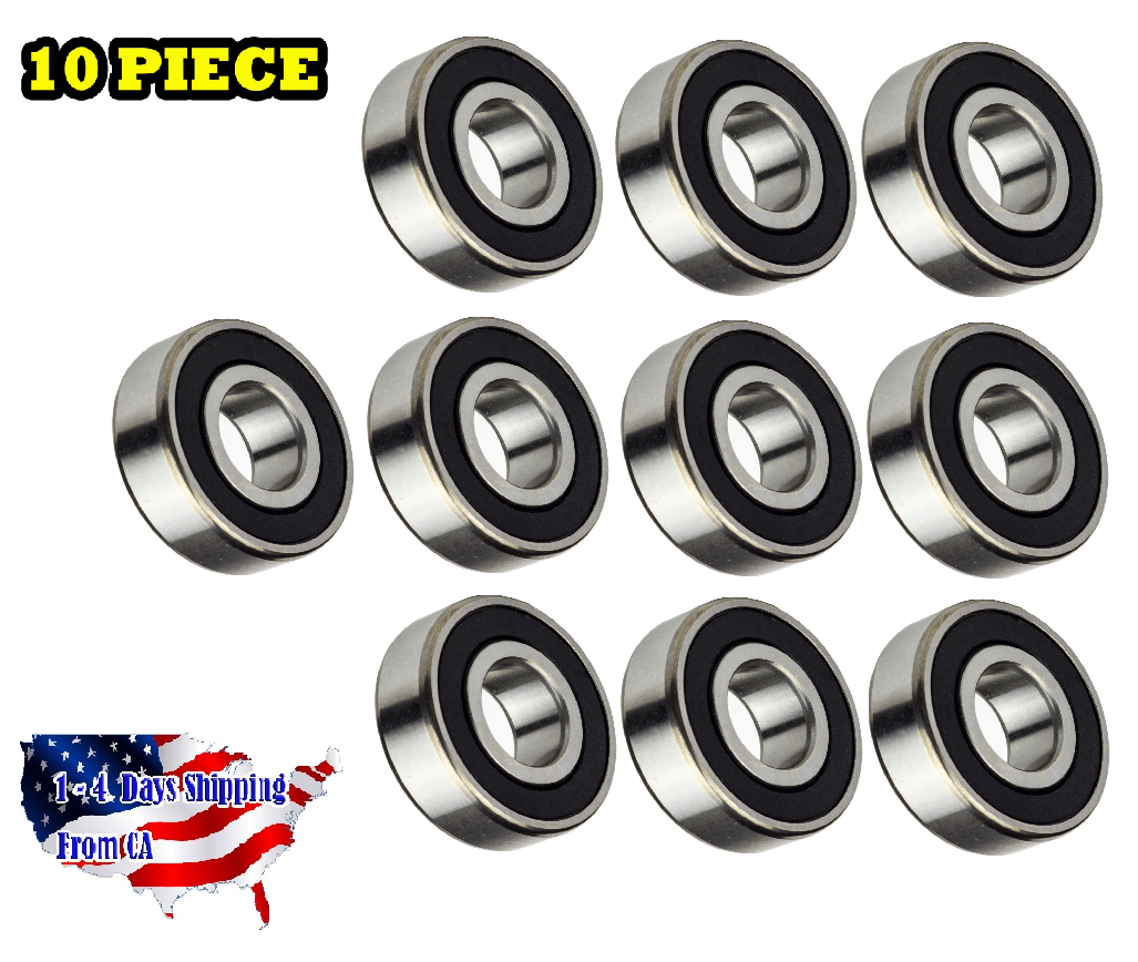 6004-2RS Premium Quality Radial Ball Bearing 20mm ID 10 Pieces mm 20x42x12