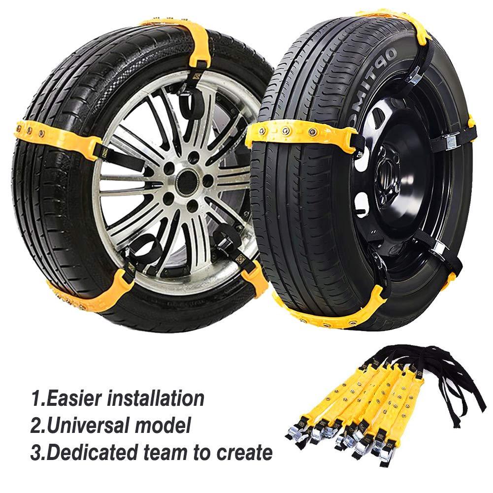 10Pcs Winter Snow Anti-skid Wheel Tire Chain for Universal Car Truck Tire Width