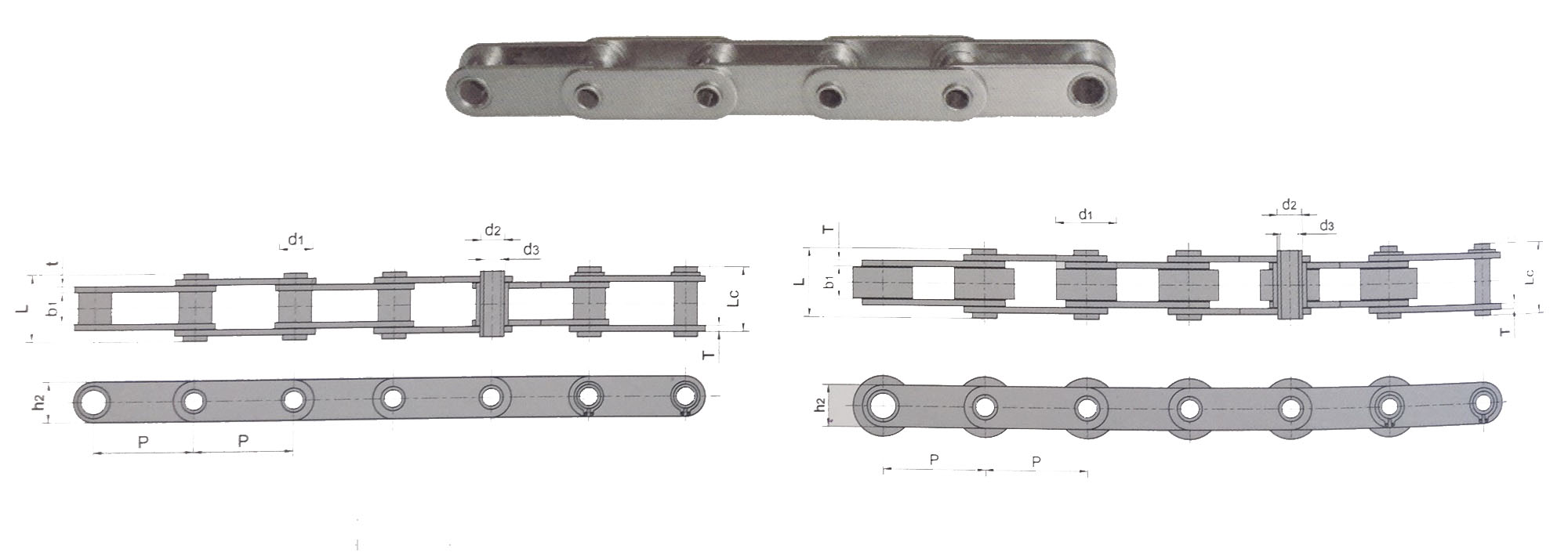 C2060HPSS Connecting Link Stainless Steel Hallow Pin Roller Chain (2 PIECES)
