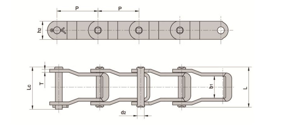 662 Pintle Chain 10 Feet with 1 Connecting Link