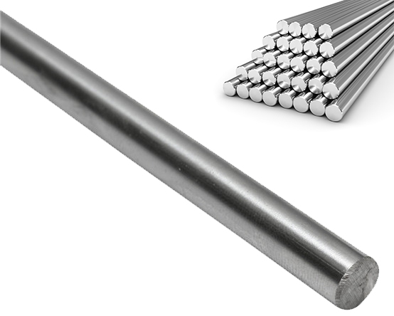 """8mm x 406mm 2 Case Hardened Chrome Linear Motion Rods // Sha .315/"""" x 16/"""" Two"""