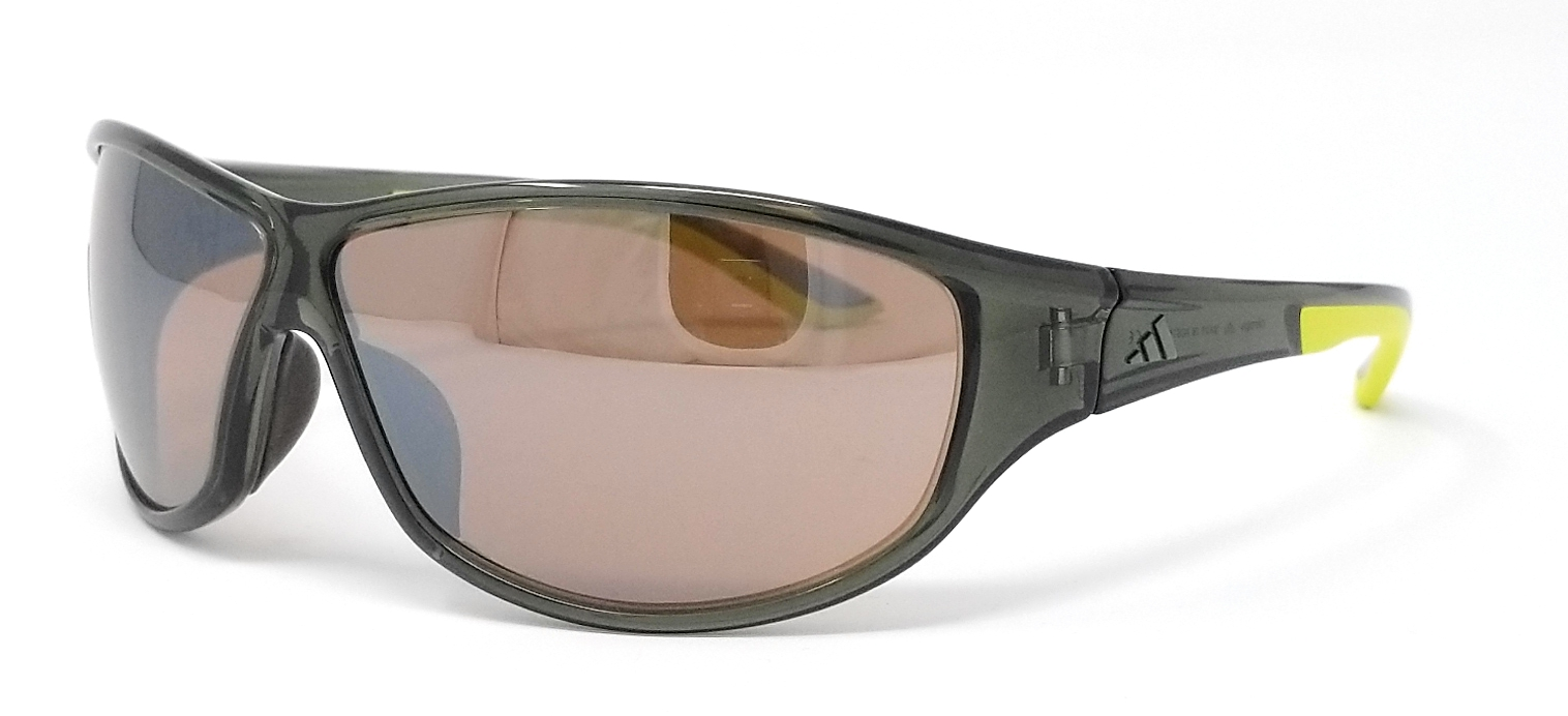 d4f4c07a4eb2 Details about Adidas Sunglasses Daroga A416 6050 Transparent Green Lime/Contrast  Silver Brown