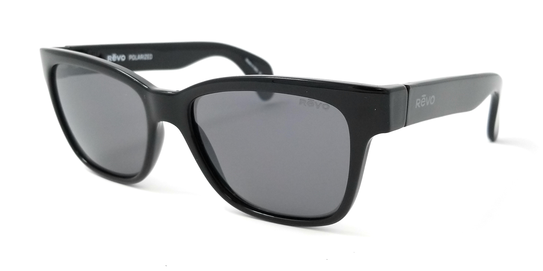 cf27f4799b Revo Sunglasses TRYSTAN RE5012 01GY Shiny Black Gray Polarized