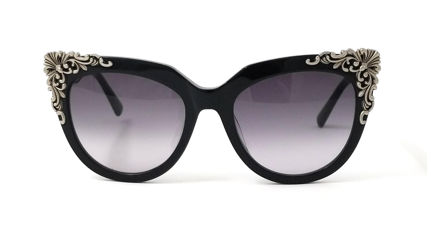 MCM Sunglasses MCM638S 001 Black Cat Eye Women 54x19x140