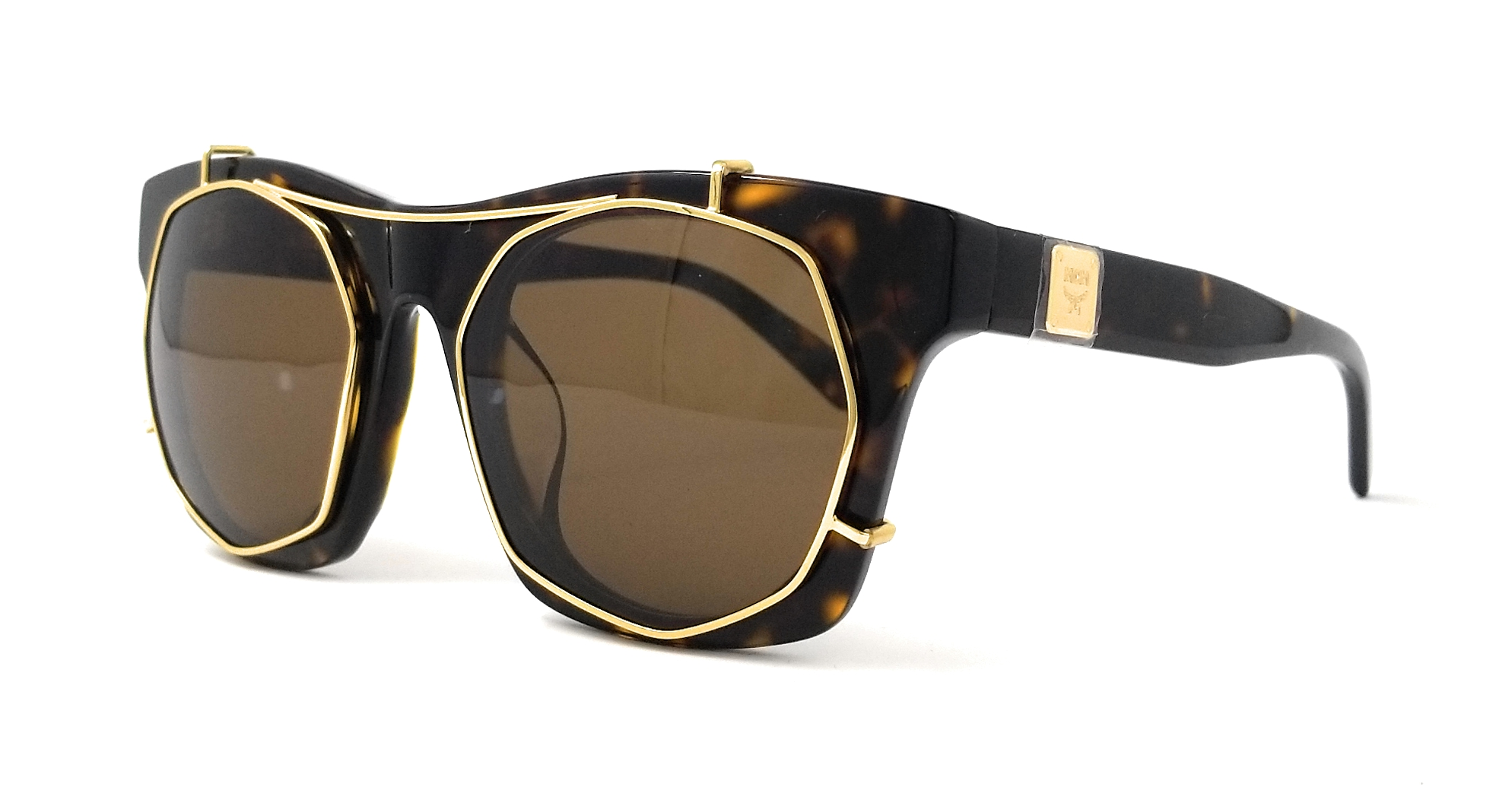 341c8d3460 Details about MCM Sunglasses MCM605SA 213 Havana-Shiny Gold Rectangular  Women 50x23x140