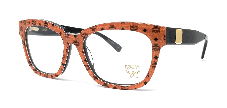 523331154b Details about MCM Eyeglasses MCM2624 262 Cognac Visetos-Black Rectangular Unisex  53mm