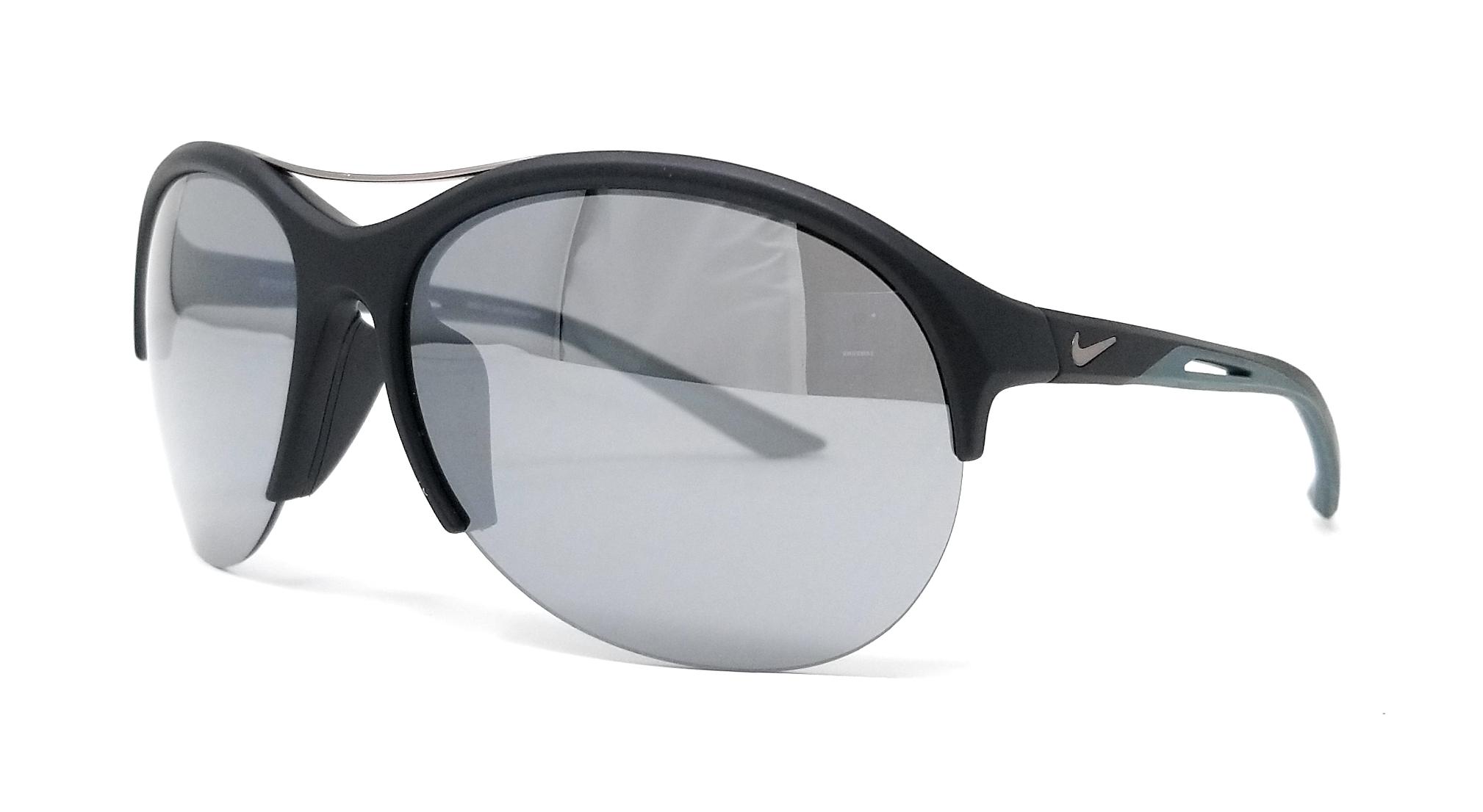 c2de097937ae8 Details about NIKE Sunglasses FLEX MOMENTUM EV1019 002 Matte Black Oval  66x15x130