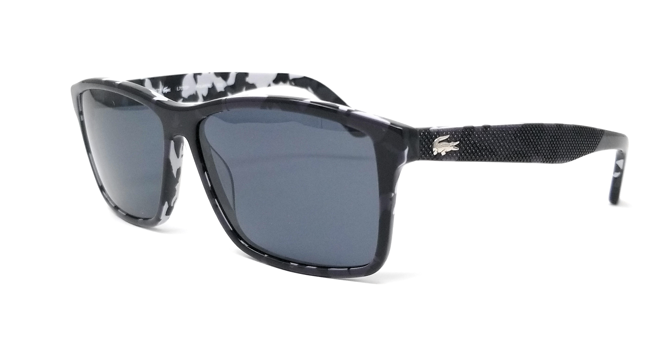 adf8969c602 Details about LACOSTE Polarized Sunglasses L705SP 002 Black Rectangle  57x13x140