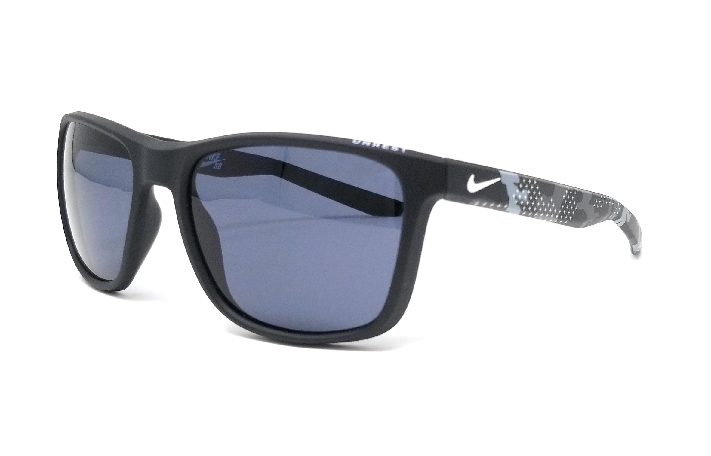 d897be99ad9 Details about NIKE Sunglasses UNREST EV0922 SE 001 Matte Black-Camo  Rectangle 57x19x145