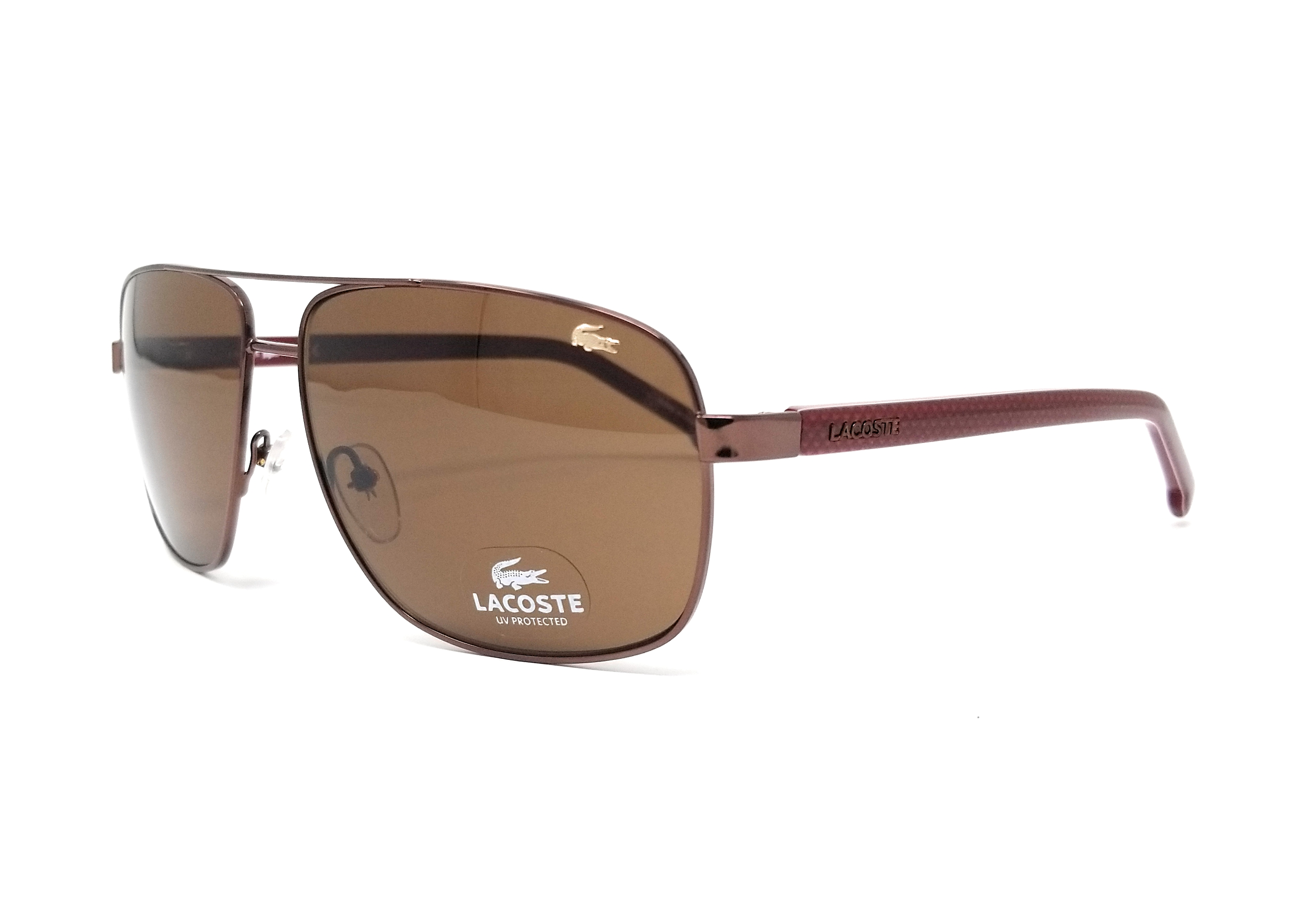 1071301821 LACOSTE Sunglasses L162S 210 Brown Rectangle 61x13x140 886895202923 ...