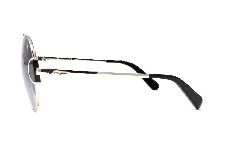 3bc43fa68 Salvatore Ferragamo Sunglasses SF156S 703 Light Shiny Gold-Black 59x19x135