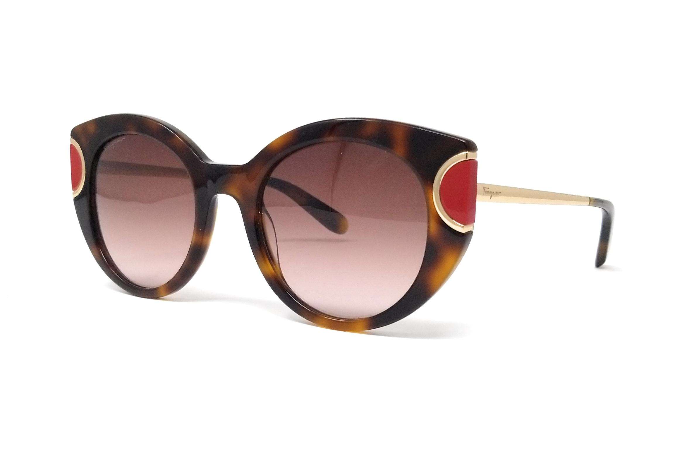 37c42de1cb9 Salvatore Ferragamo Sunglasses SF829S 207 Tortoise-Red Butterfly 52x21x140