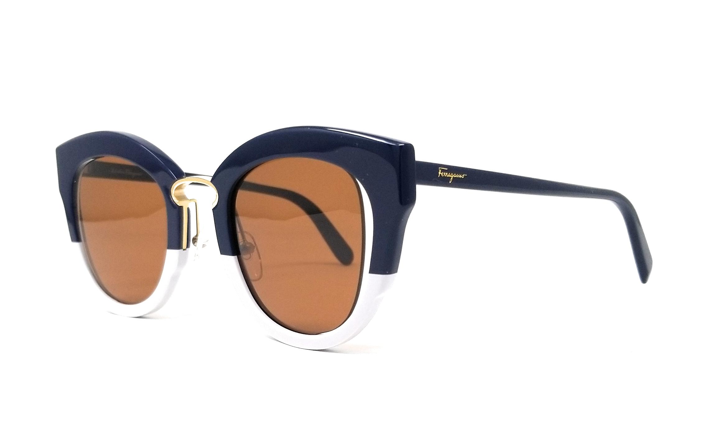 0d6cd90cdf4 Salvatore Ferragamo Sunglasses SF830S 464 Blue-Grey Butterfly 48x24x145