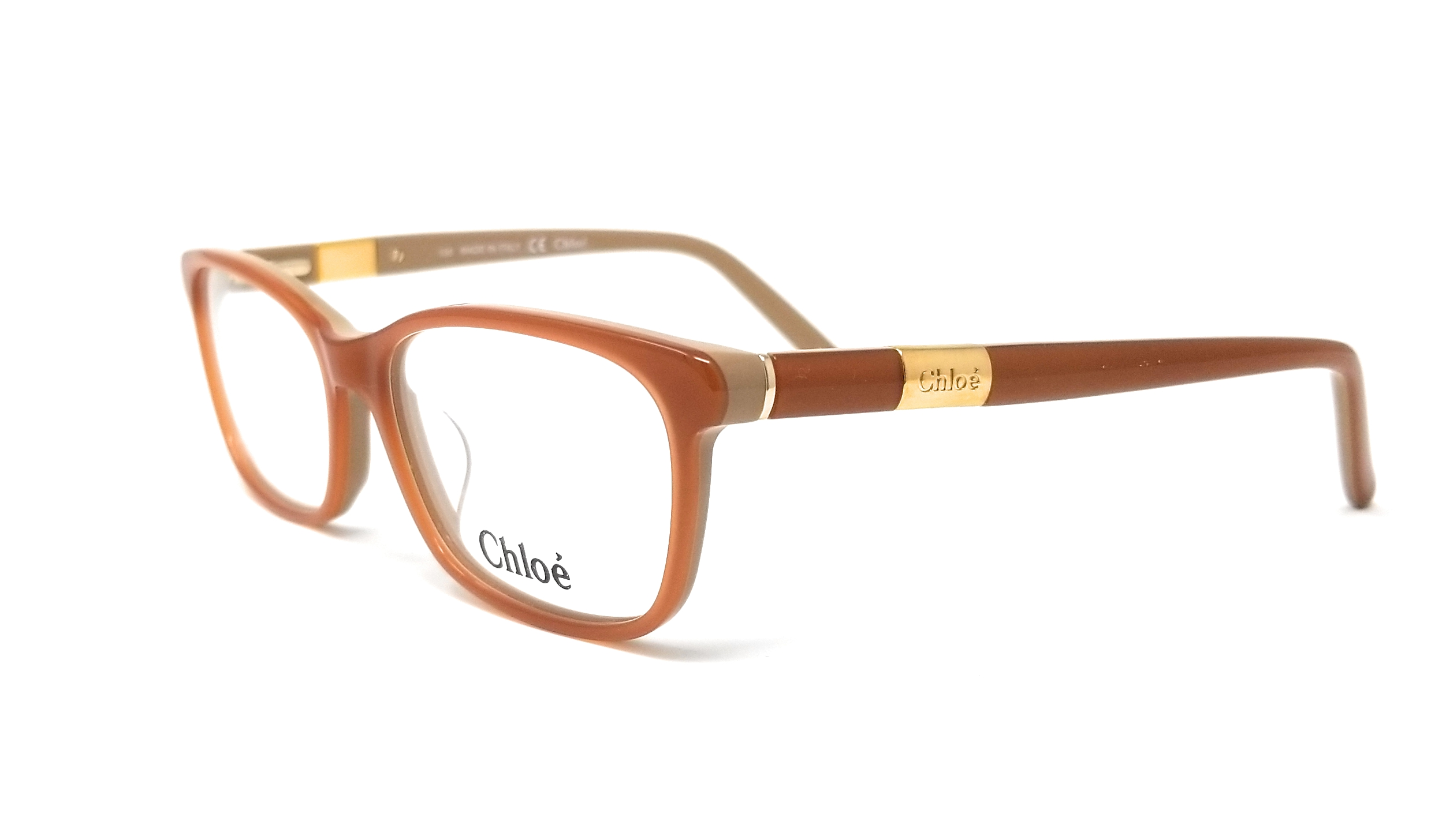 ddf36c417c6 Details about CHLOE Eyeglasses CE2628 749 Peach-Nude Rectangle 53x15x135