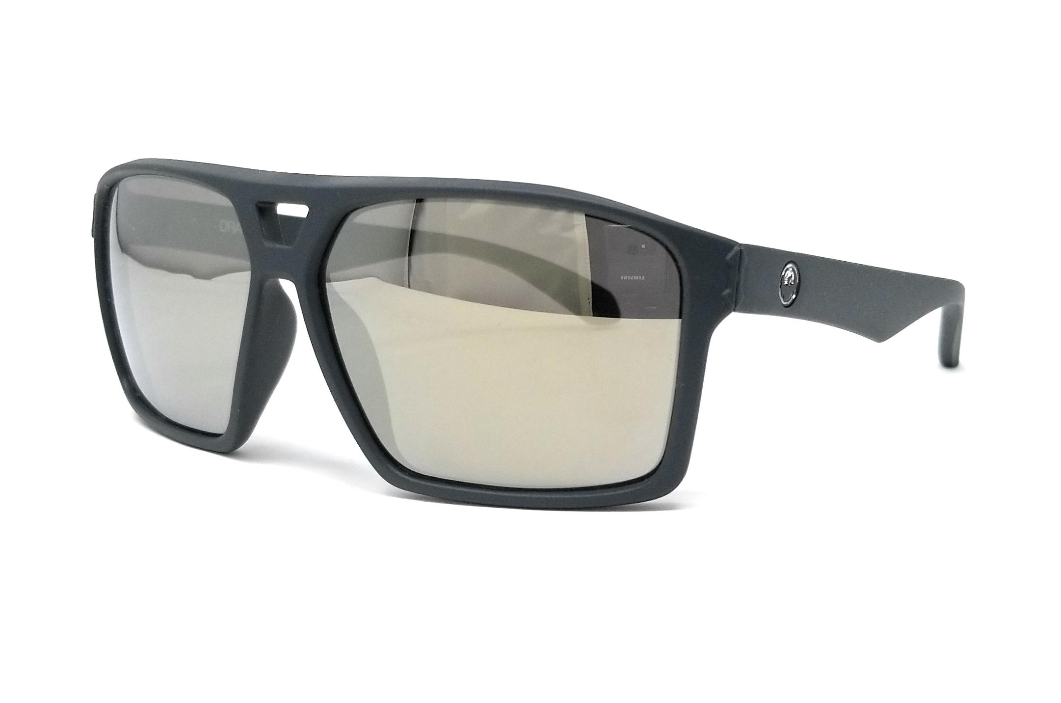 DRAGON Sunglasses CHANNEL ION 024 Matte Magnet Grey Rectangle 59x12x145
