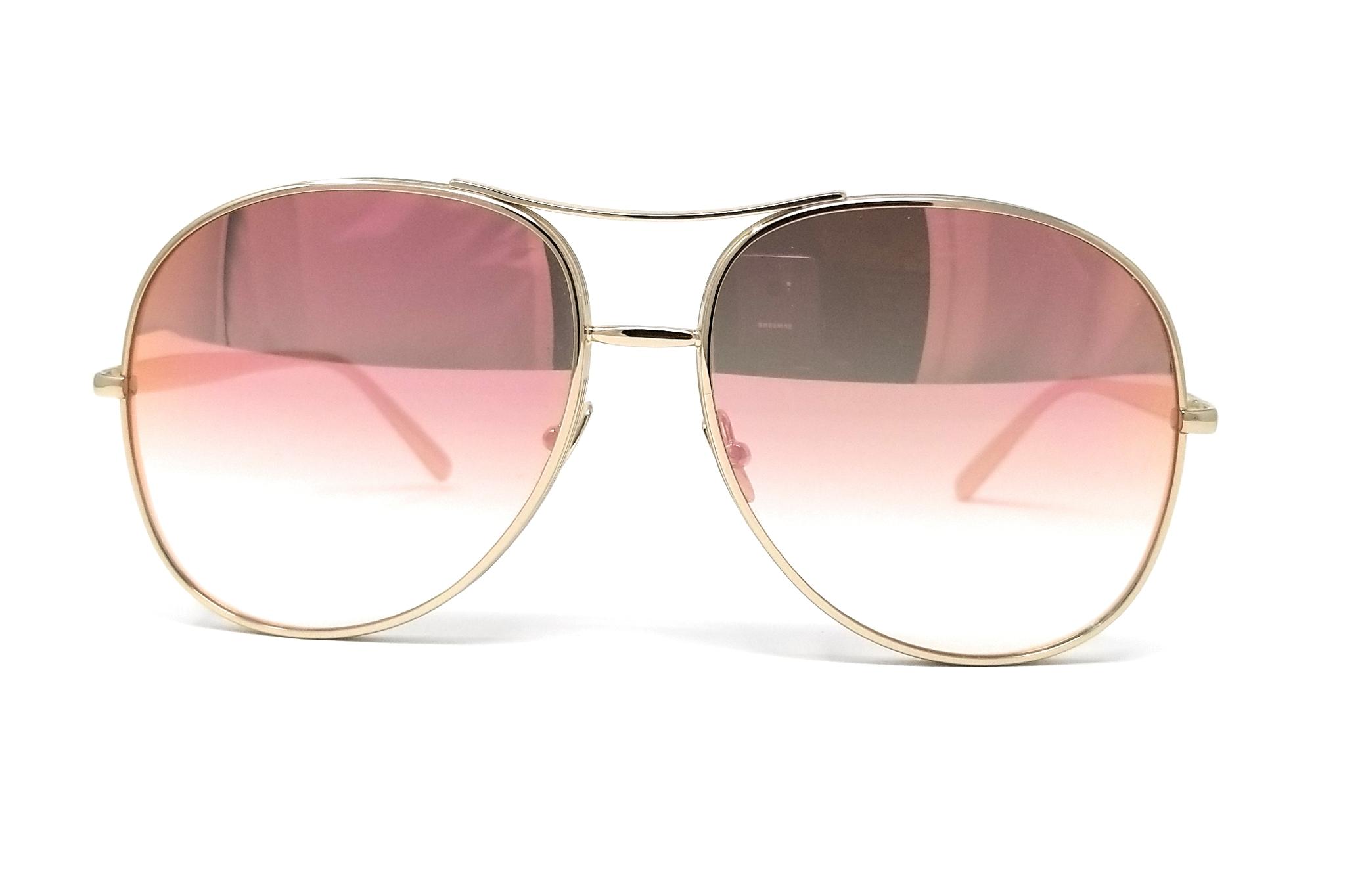 853a12231a718 CHLOE Sunglasses CE127S 778 Gold Rose Peach Aviator 61x16x135