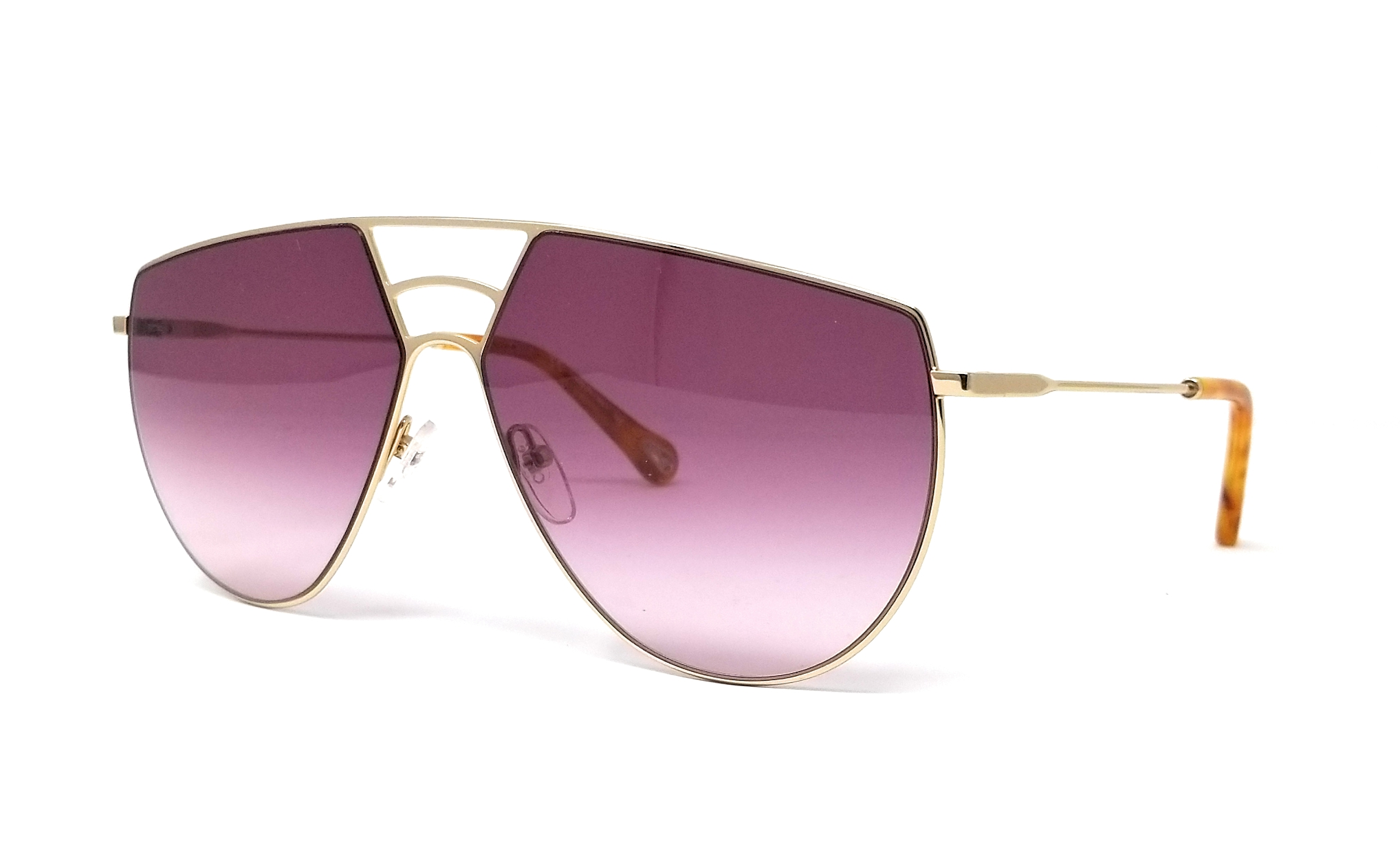 1ac81f34ceef Details about CHLOE Sunglasses CE139S 804 Gold Aviator 62x13x140