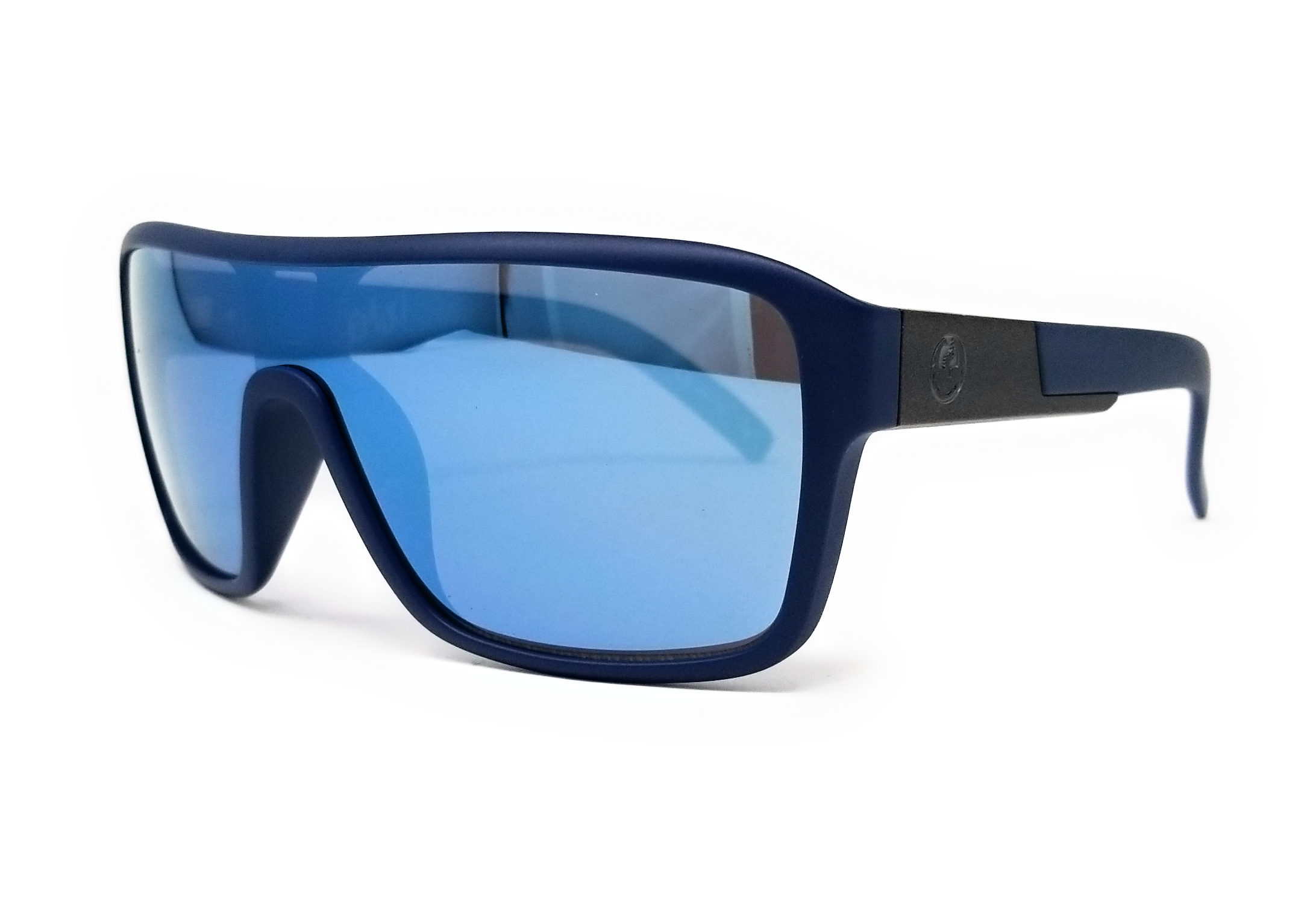 271fa67ef53c Details about DRAGON Sunglasses REMIX 3 414 Matte Navy Shield 68x22x140
