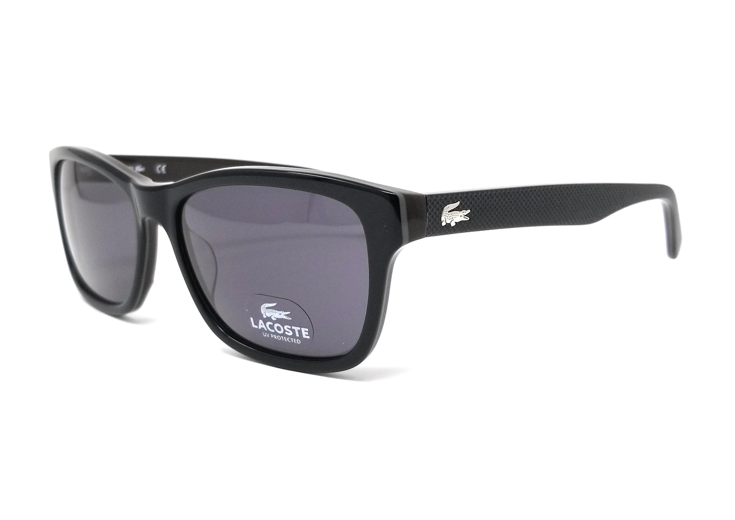 127efe5fe7dd Details about LACOSTE Sunglasses L683S 001 Black Square Unisex 55x16x140