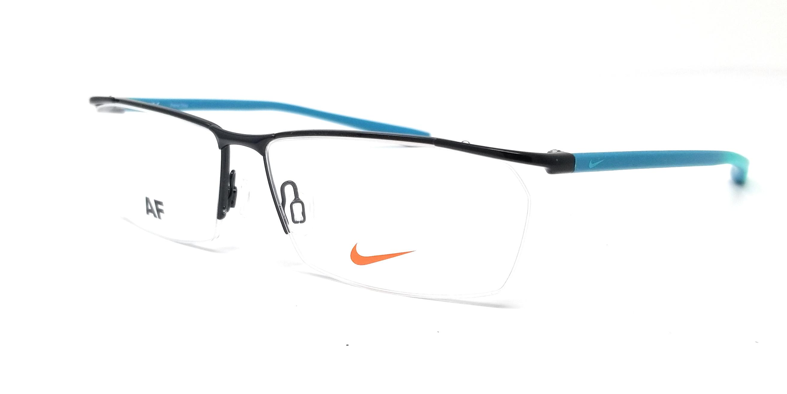 7bbb86980e72 Details about NIKE Eyeglasses 7918AF 007 Satin Black Rectangle Unisex  56x13x140