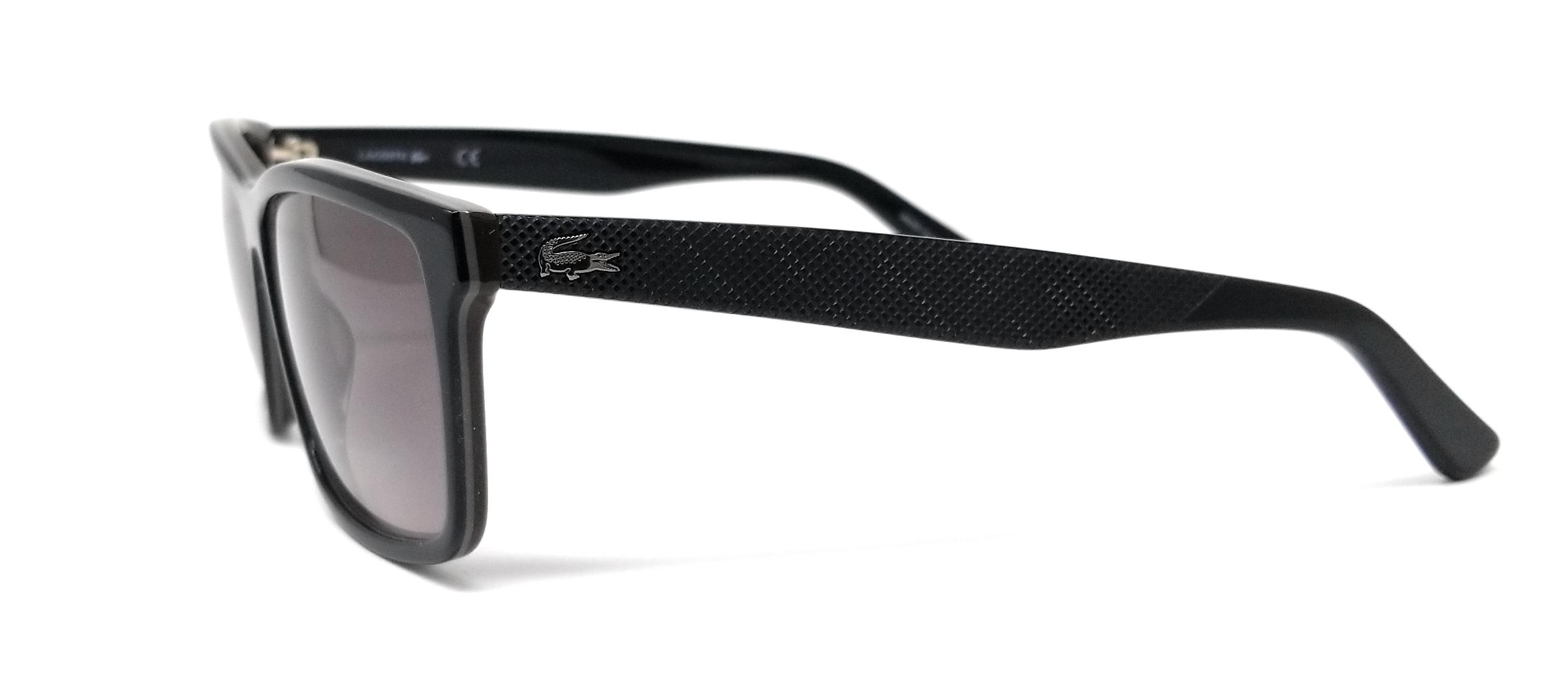 LACOSTE Sunglasses L705S 001 Black-Brown Rectangle Men/'s 57x13x140
