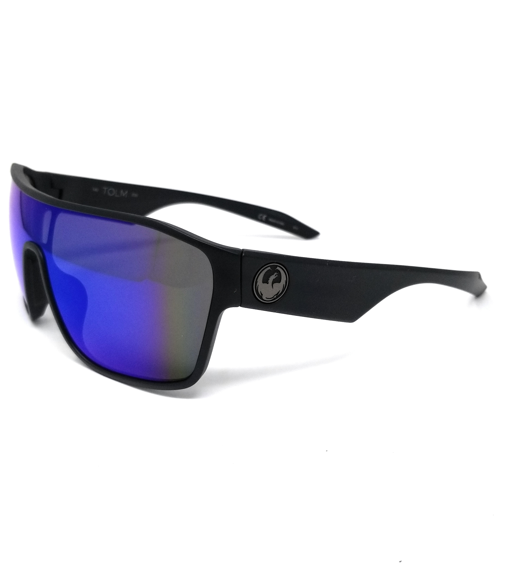 NEW DRAGON Sunglasses DR TOLM ION 022 Matte Black with Red Ion  Lenses