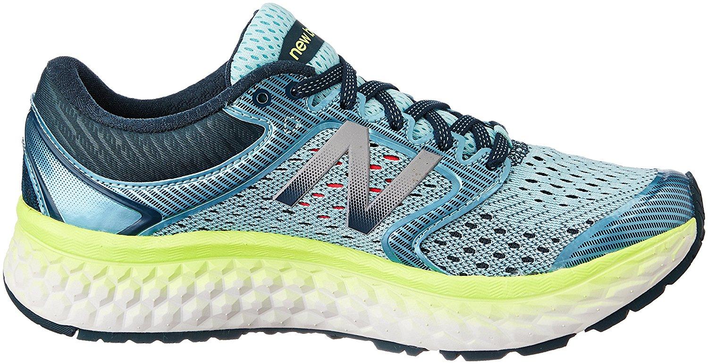 575e20d257dc6f New Balance W1080V7 Womens Cushioned Foam Running Shoes - Blue Lime ...