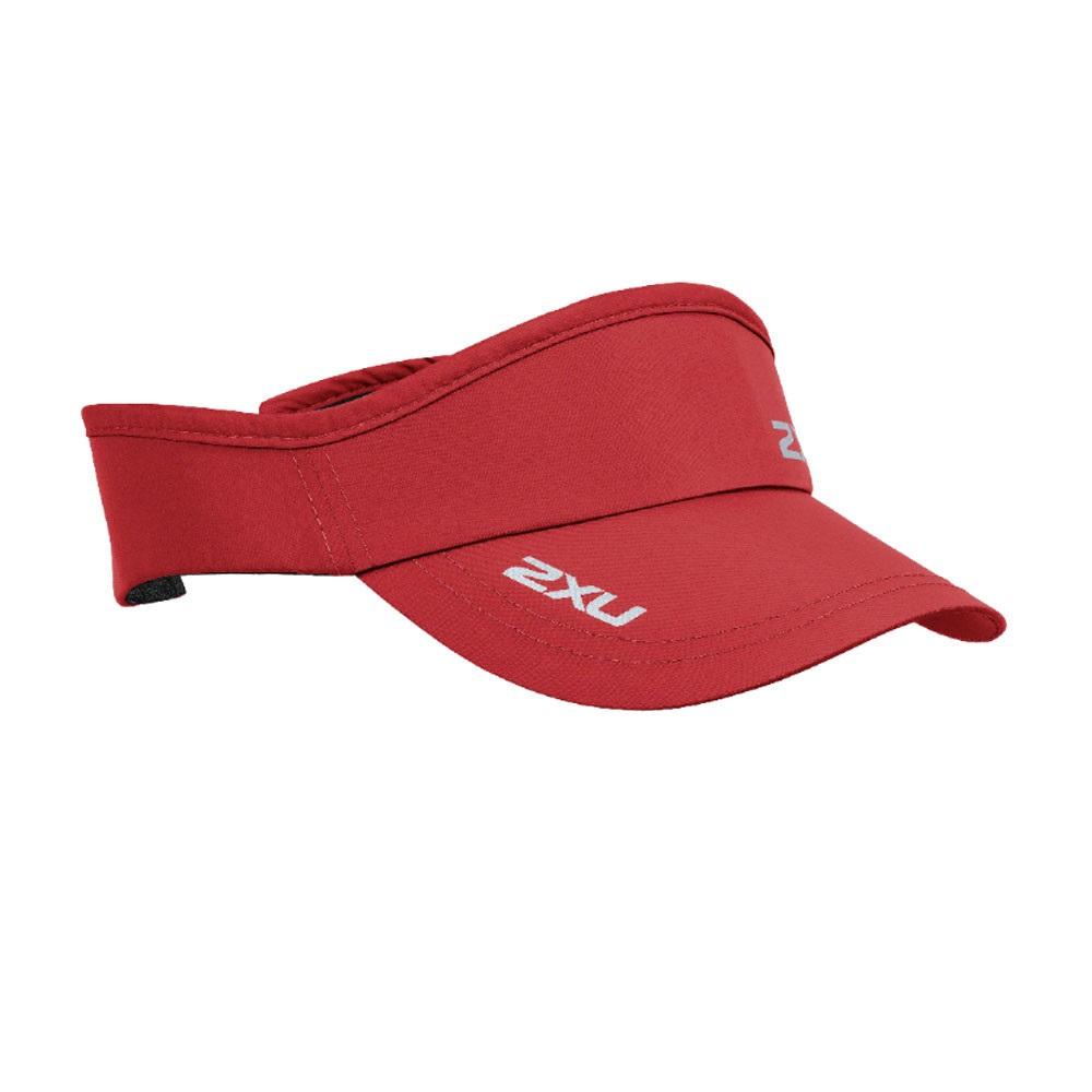 2XU Unisex Run Visor Red Sports Running Breathable