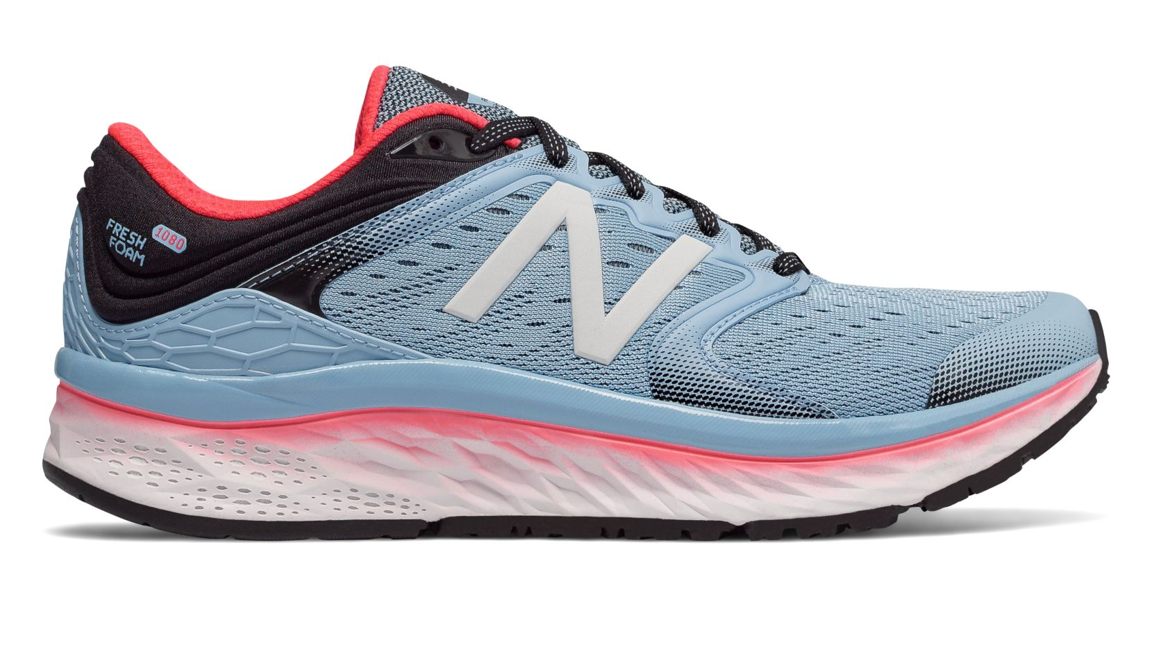 1b4d00f0800 Details about New Balance Fresh Foam 1080v8 Womens Running Shoes -  Sky Coral Black (D)
