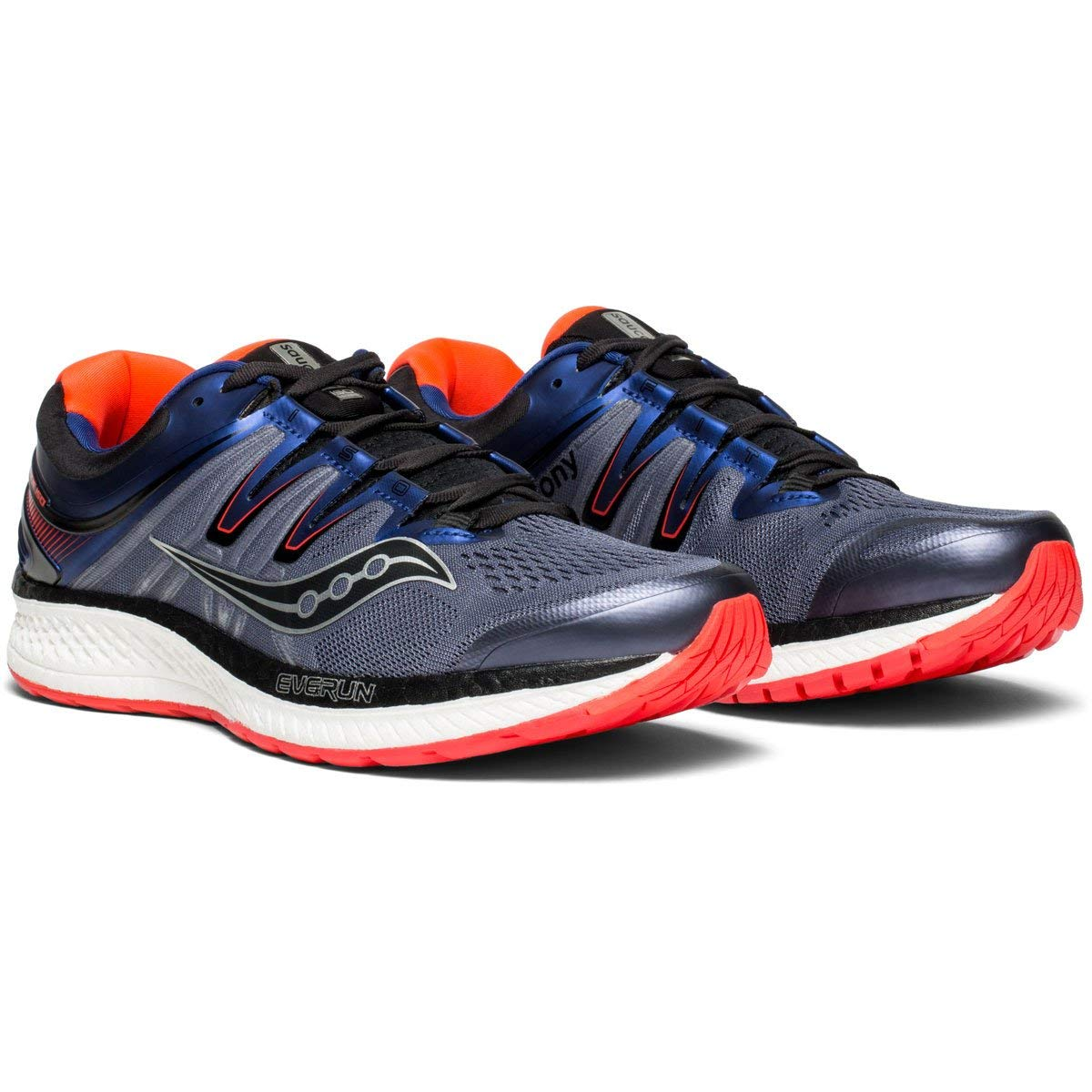 f965bac2e15c Details about Saucony Mens Hurricane ISO 4 Running Shoes Trainers Sneakers  Grey Red
