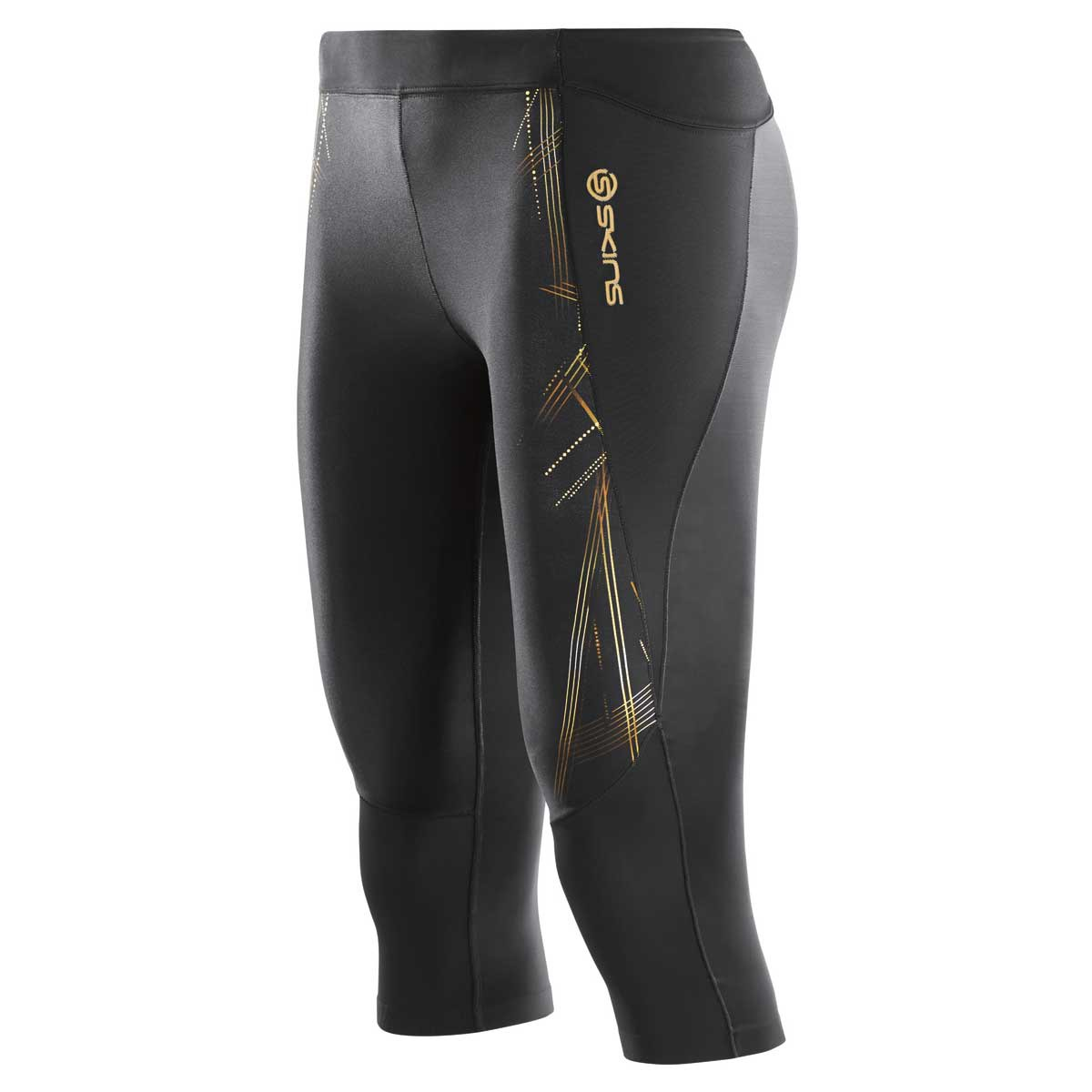 Skins A400 3 4 Compression Running Sport Tights - Womens - Black ... 046bdf60e