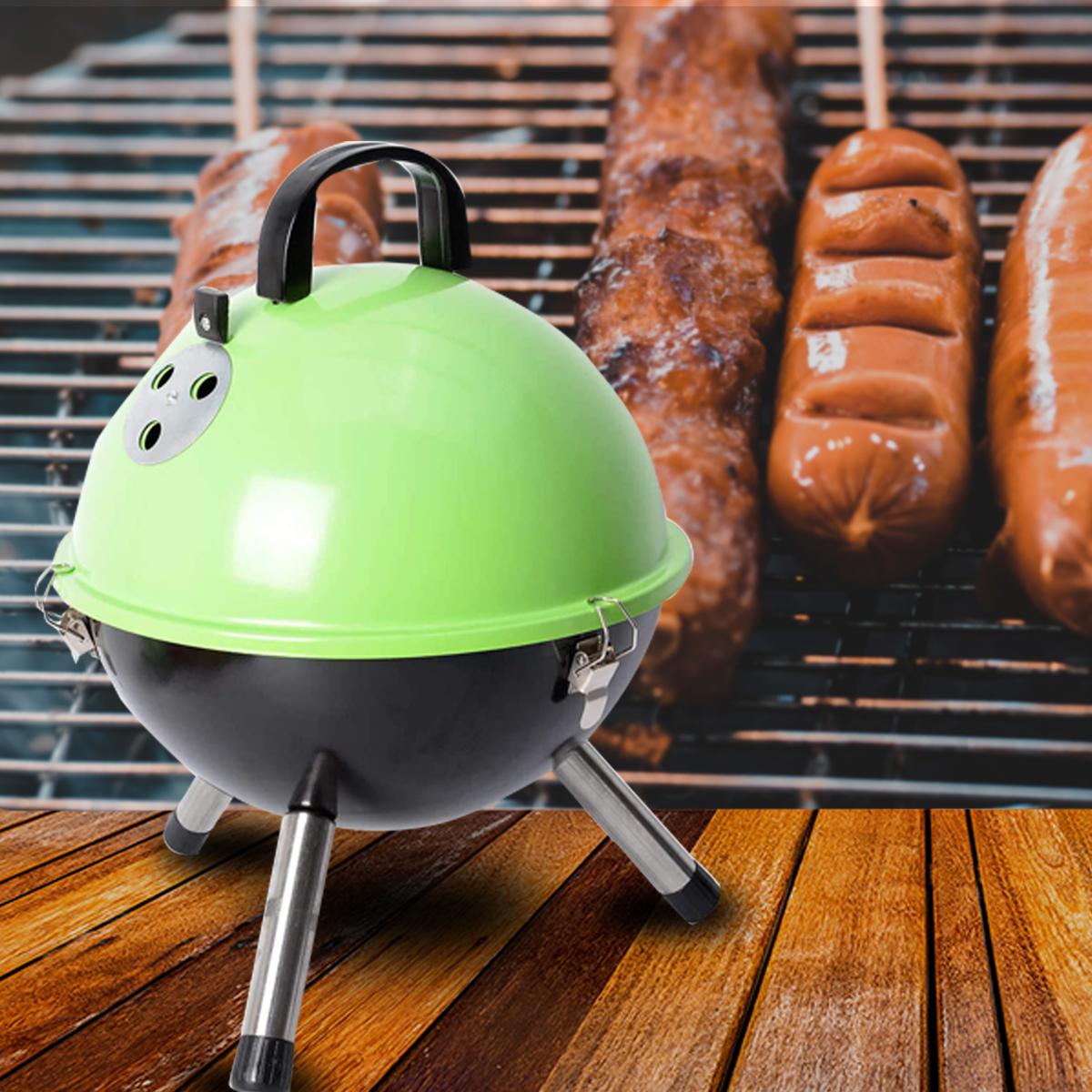 thumbnail 34 - Outdoor Backyard Cooking Mini Portable Charcoal BBQ Grill Bottom Storage