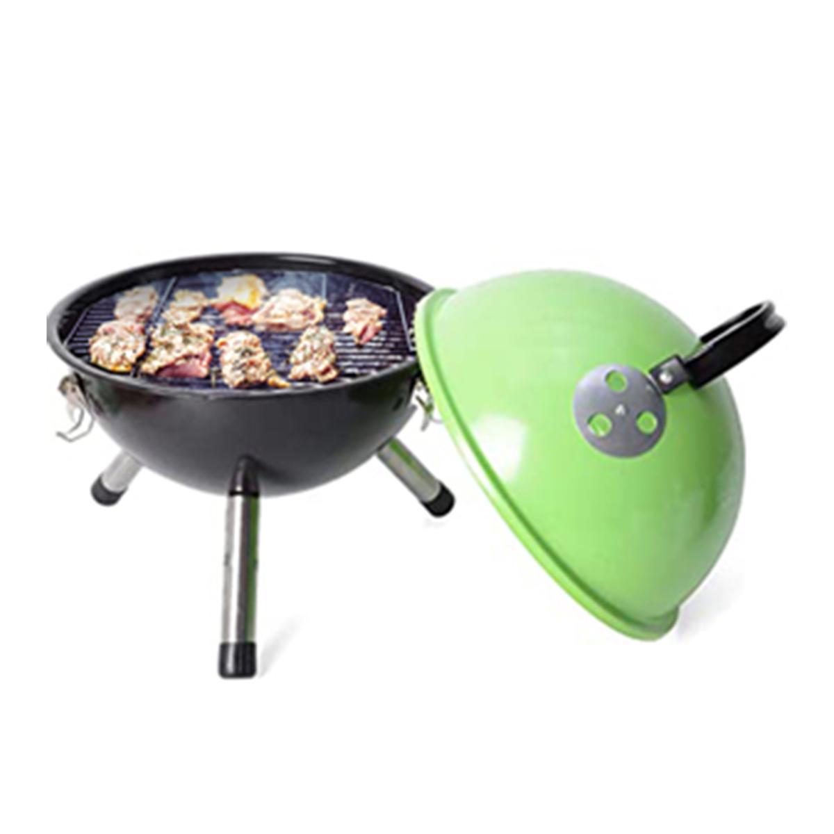 thumbnail 33 - Outdoor Backyard Cooking Mini Portable Charcoal BBQ Grill Bottom Storage