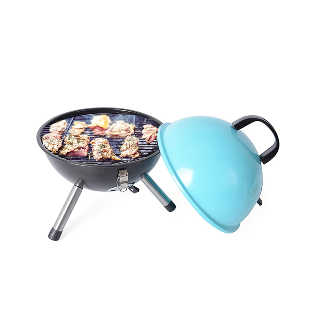 thumbnail 23 - Outdoor Backyard Cooking Mini Portable Charcoal BBQ Grill Bottom Storage