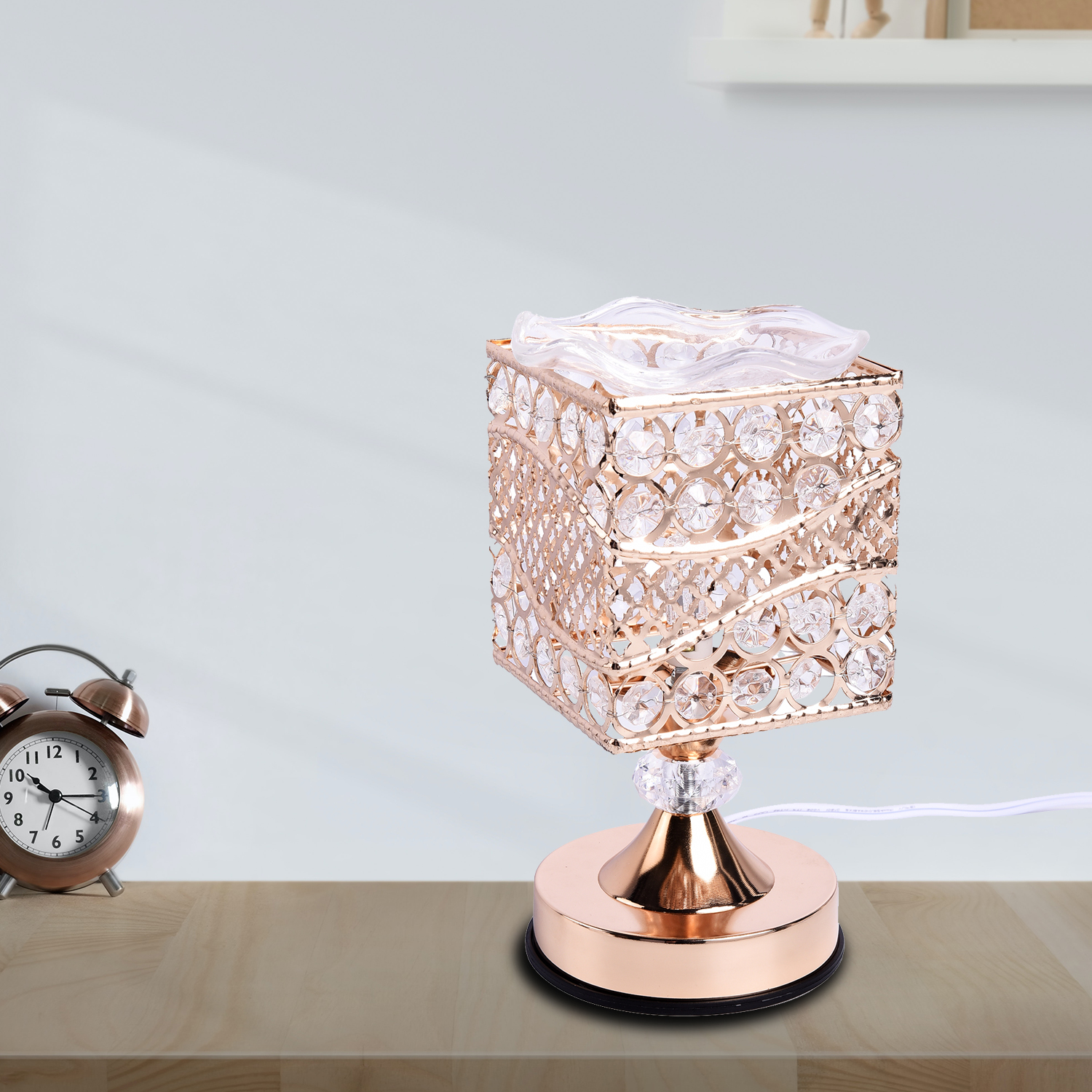 thumbnail 7 - Home Decor Gold Color Iron Design G Table Lamp with UL Plug Bulb G5 Included