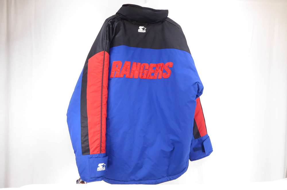 ... reduced a fantastic deal on a vintage new york rangers starter jacket.  90s vintage blue c3ad62caa6