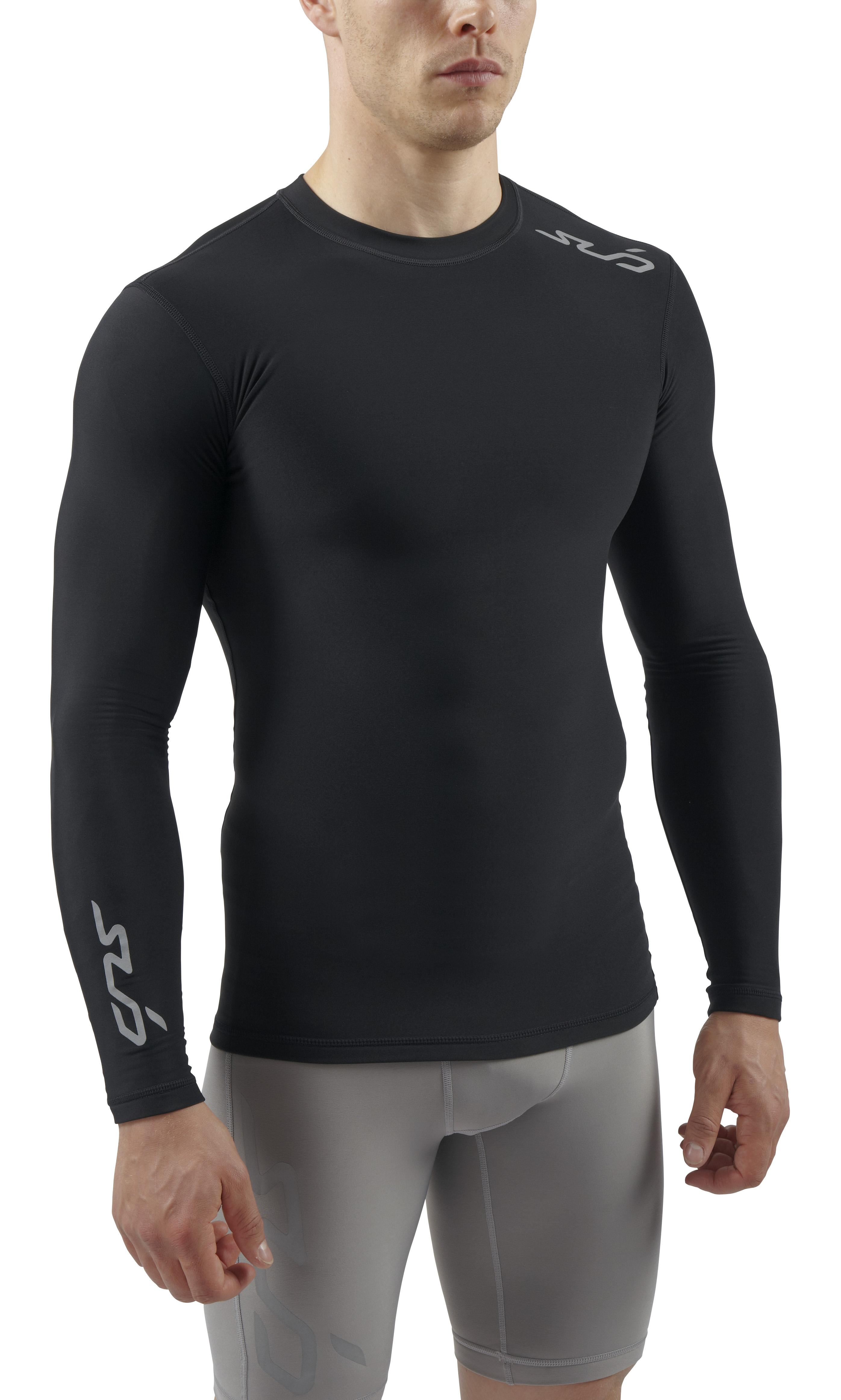 Sub-Sports-Mens-Winter-Warm-Vest-Crew-Neck-Long-Sleeve-Thermal-Base-Layer-Fleece