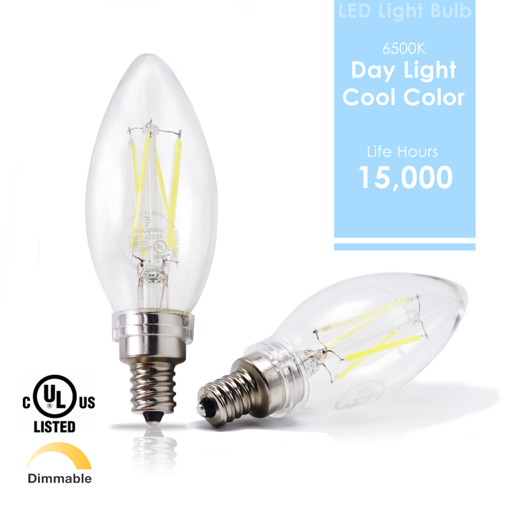 led 6500k daylight 40w equivalent dimmable cool chandelier candelabra bulbs e12 ebay. Black Bedroom Furniture Sets. Home Design Ideas