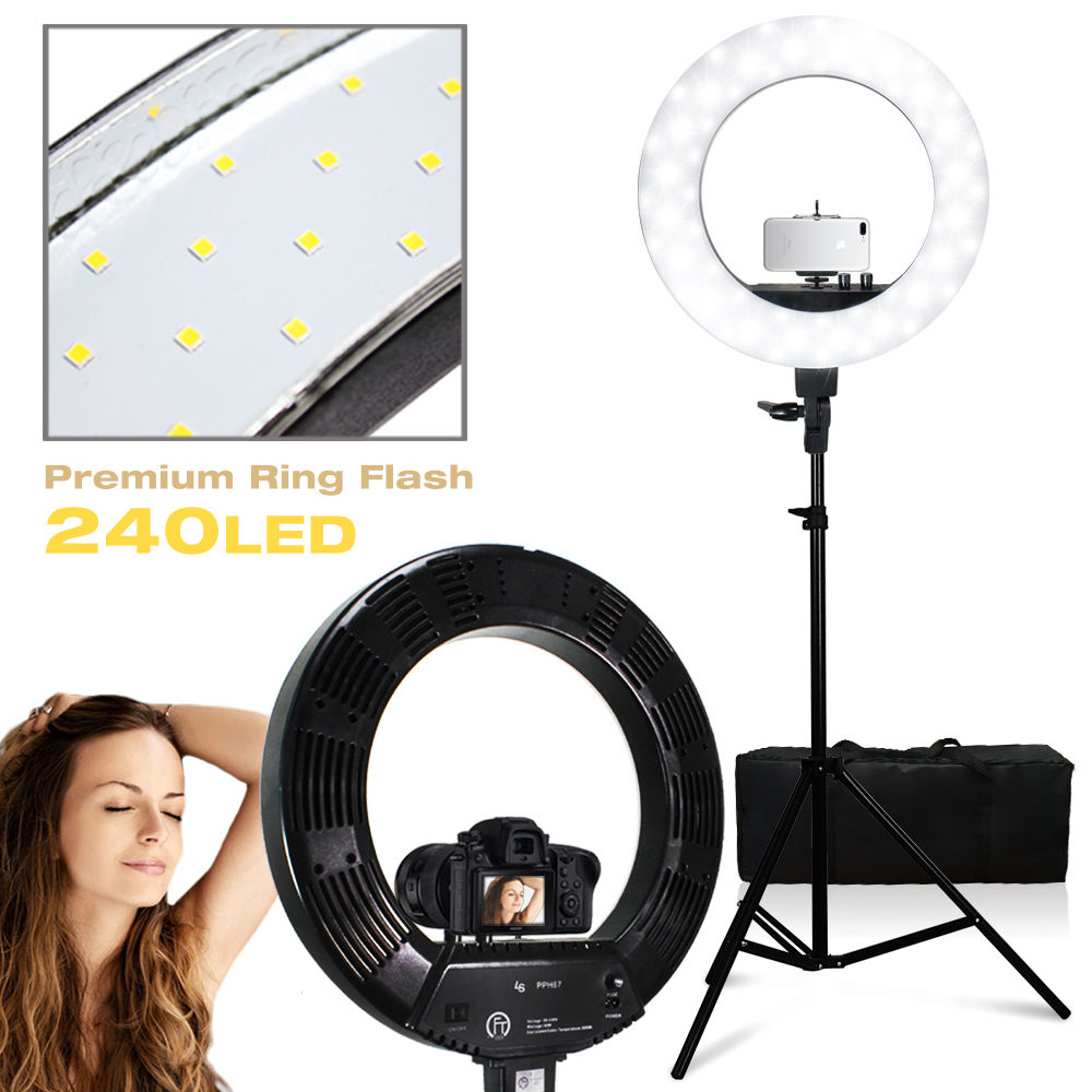 """Ring Light Stand Ebay: 18"""" 55W LED SMD Dimmable Diva Ring Light Stand Phone Mount"""