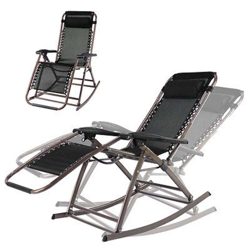 Infinity Zero Gravity Rocking Chair Outdoor Lounge Patio