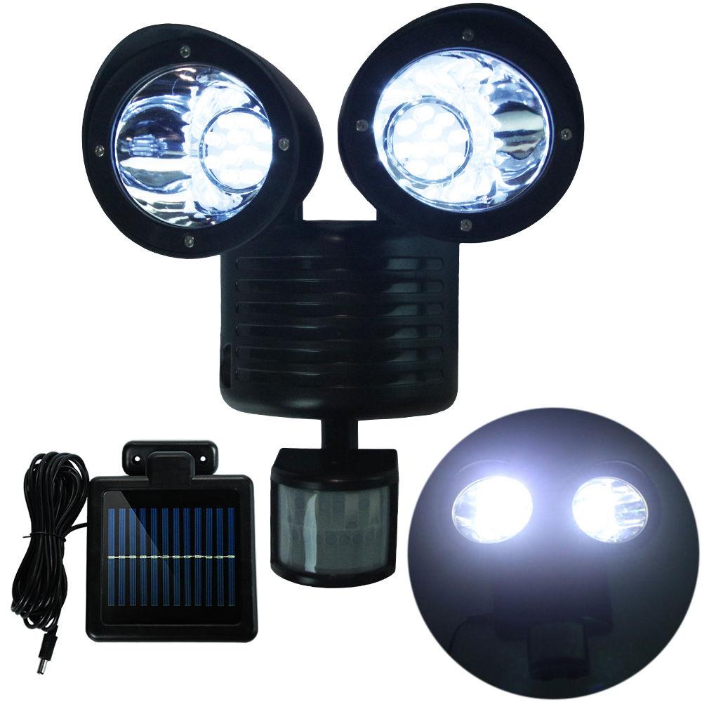 Dual security detector solar spot light motion sensor - Led exterior motion detector lights ...