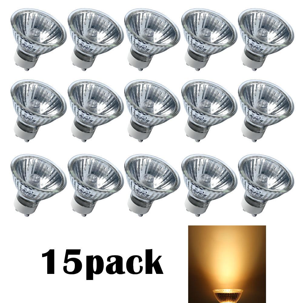 15 pcs gu10 50w 120v bulb halogen flood light bulb. Black Bedroom Furniture Sets. Home Design Ideas