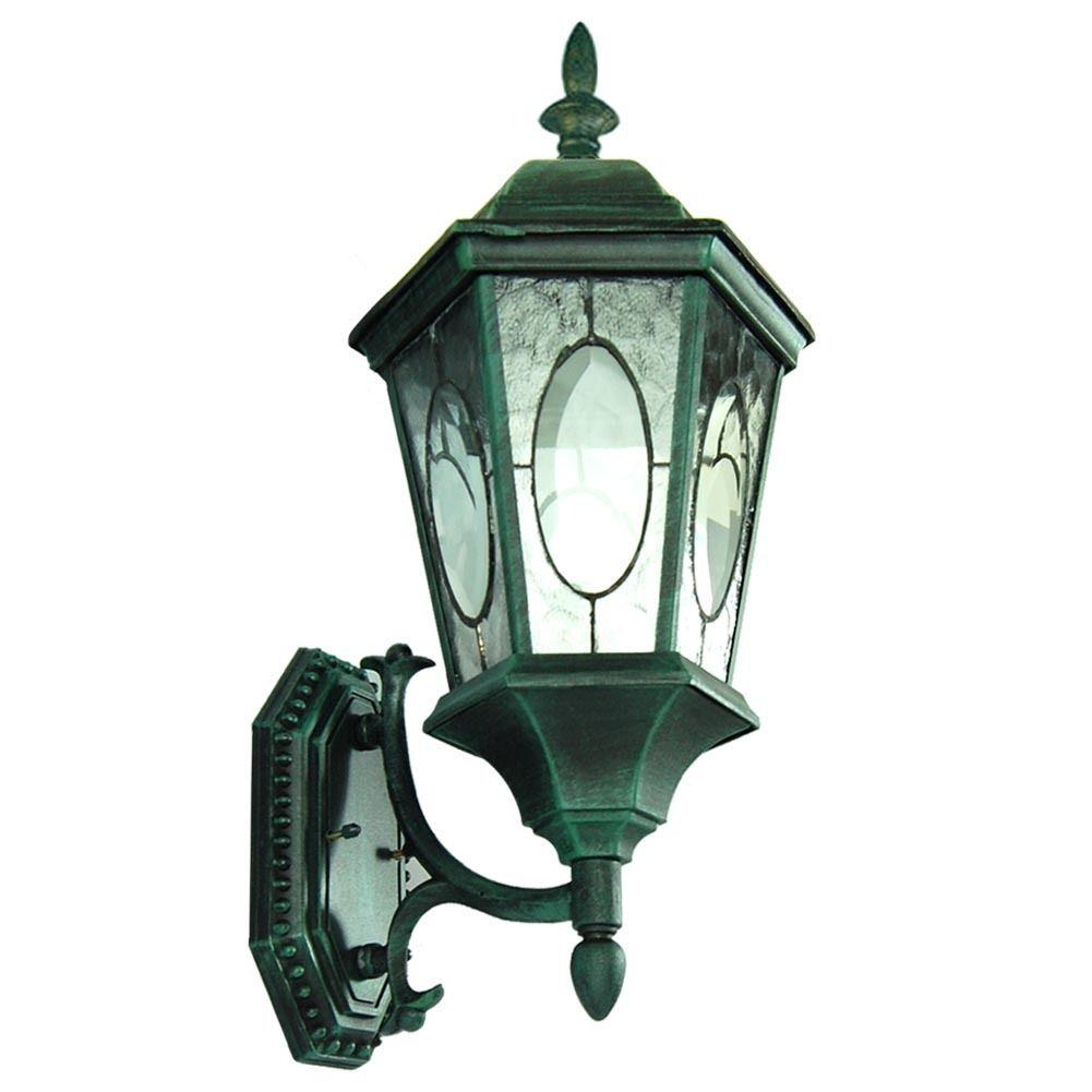Green Outside Wall Lights : TP Lighting Green Patina Finished Outdoor Wall Lantern Light OT0029MVF-WU-VG eBay